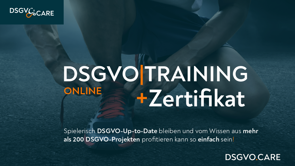 DSGVO.CARE Training Online!