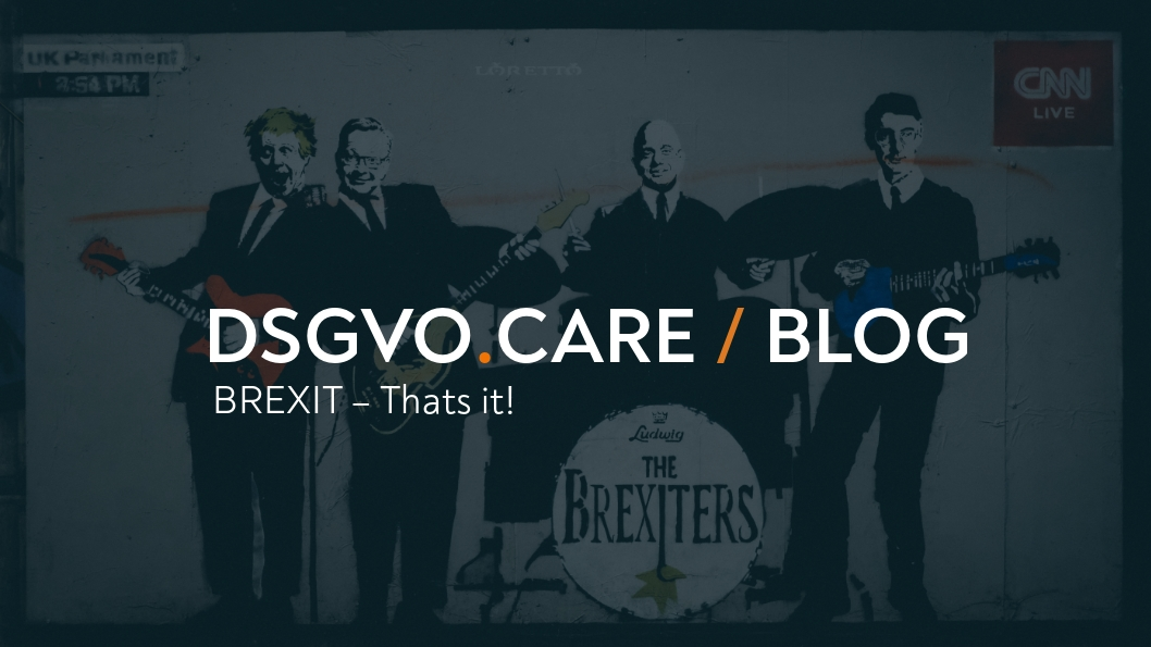 BREXIT- Thats it! - such sweet sorrow!
